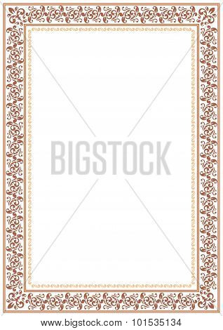 Gentle Brown Floral Border