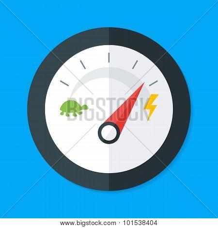 Speedometer Modern Flat Style