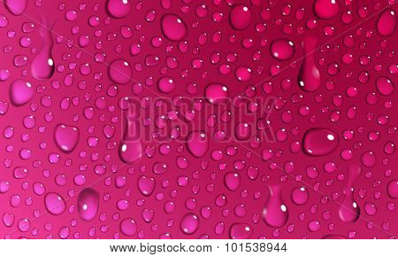 Crimson Background Of Water Drops