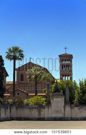 Basilica Savello park on the Palatine hill. Rome. Italy.