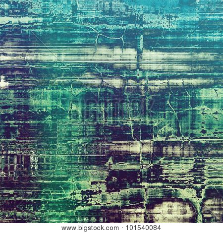 Old, grunge background or ancient texture. With different color patterns: blue; purple (violet); cyan; green