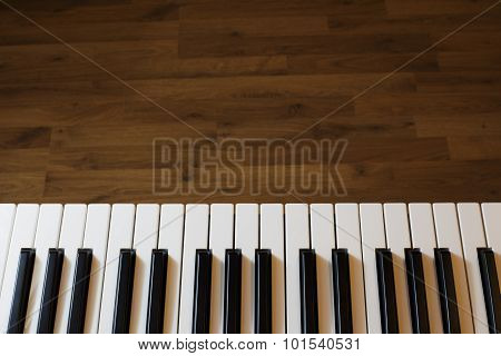 Synthesizer keyboard close up