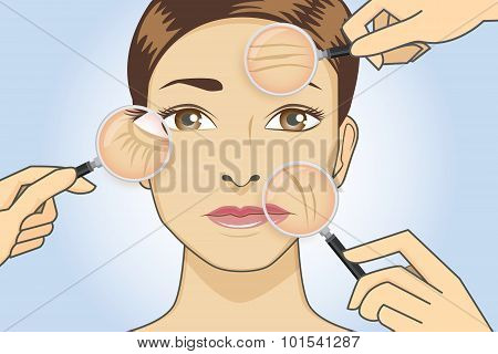 Woman ready to cosmetic surgery