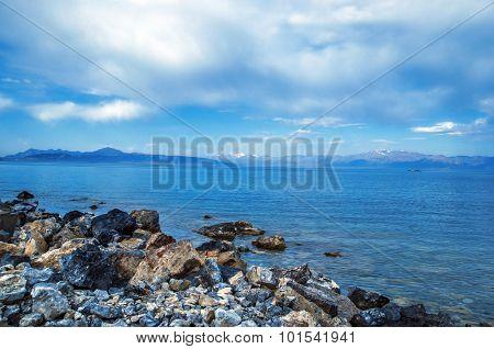 Xinjiang Sayram Lake China scenery