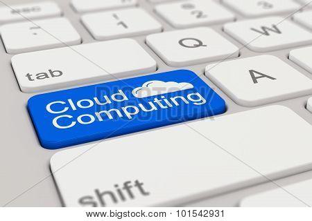 Keyboard - Cloud Computing - Blue