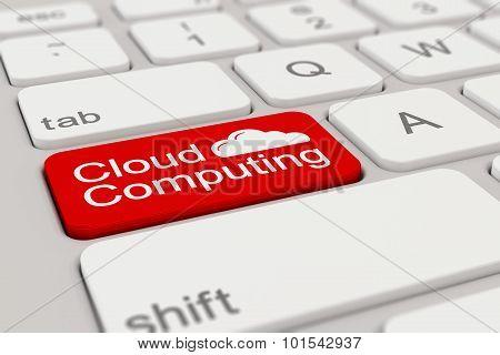 Keyboard - Cloud Computing - Red