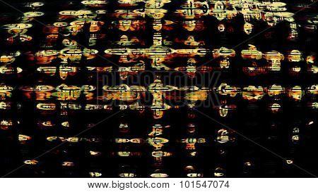Futuristic Screen Display Pixels 10479