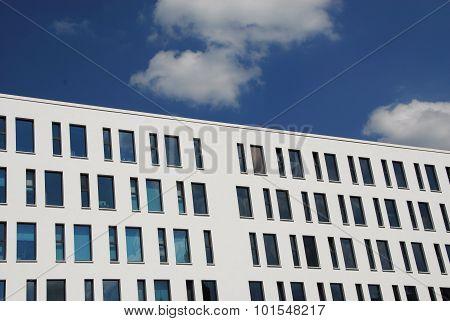 Modern facade design with windows