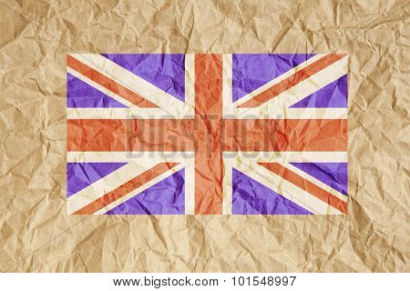 Crumpled Paper Uk Flag