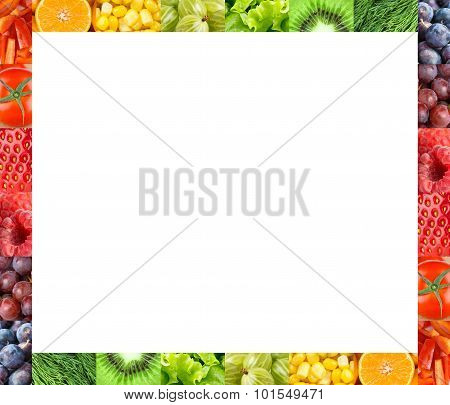 Fresh Fruits And Vegetables Frame