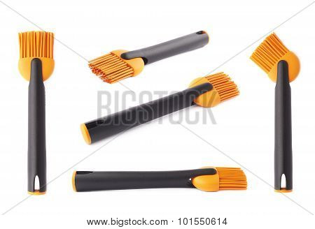 Silicone oil brush isolated