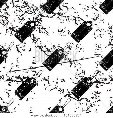 String tag pattern, grunge, monochrome