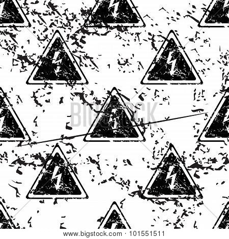 High voltage pattern, grunge, monochrome