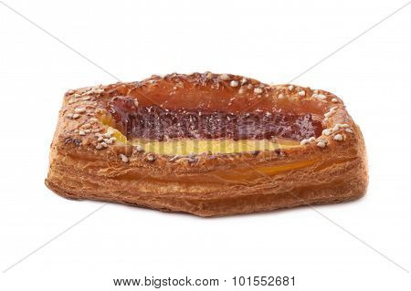 Sweet bread bun pastry isolated