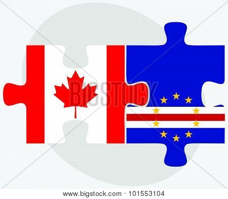 Canada And Cabo Verde Flags