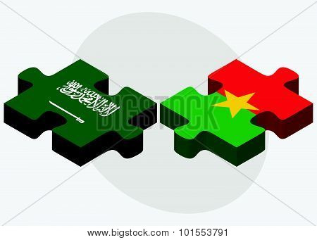 Saudi Arabia And Burkina Faso Flags
