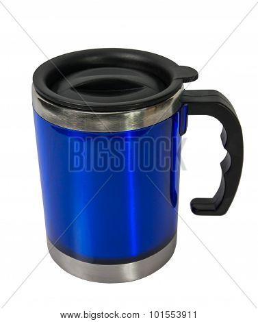 Metal Blue Cup.
