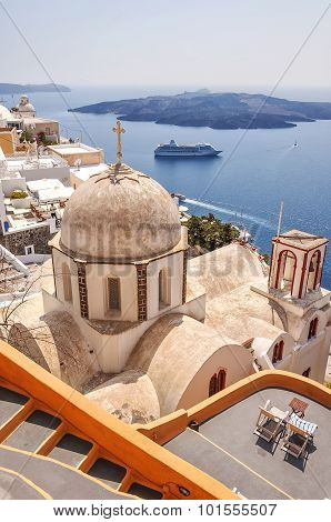 Santorini Church At Fira