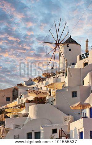 Santorini Windmill At Oia