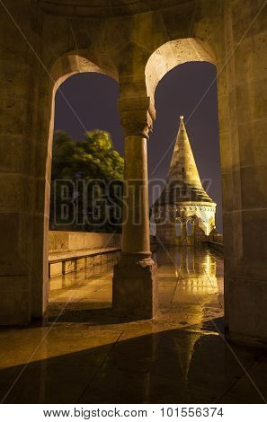 Inside The Fisherman's Bastion In Budapest