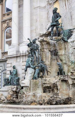 Matthias Fountain In Buda Castle