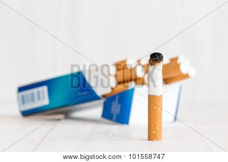 Cigarette Package And Butt