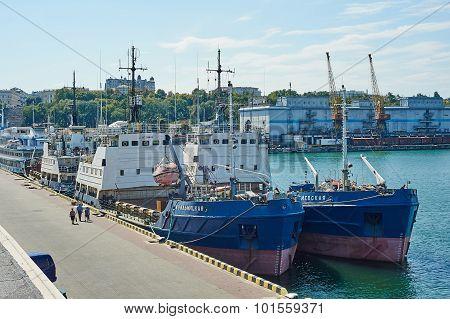 Ship Came Into The Port Of Odessa