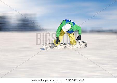 Faster Snowboarder