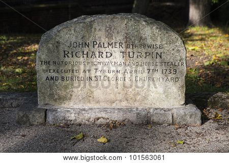 Grave Of Dick Turpin In York