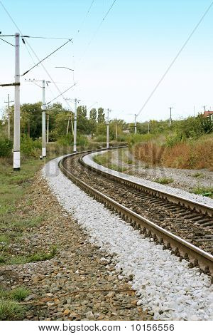 Railway tracks leading into the distance