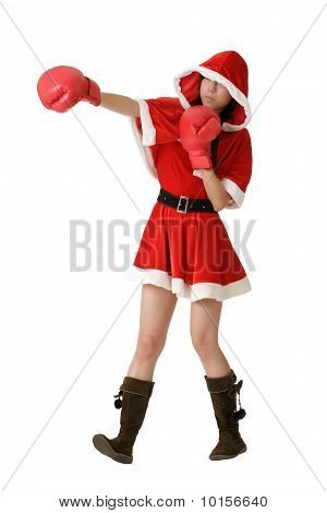 Christmas Lady Fighting