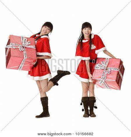 Asian Christmas Woman