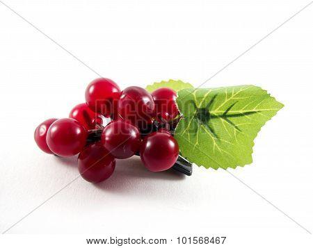 Created plastic grape fruit shape on hairpin