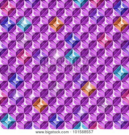 Colored diamonds texture. Vector illustration.