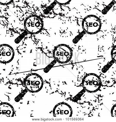 SEO search pattern, grunge, monochrome