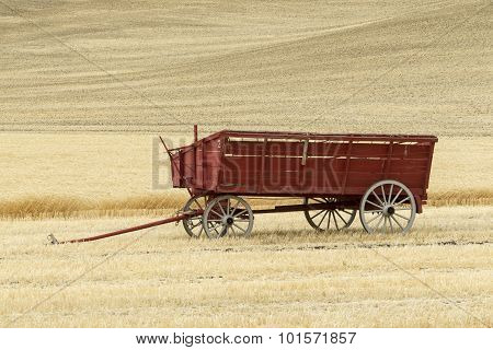 Wagon In The Wheat Field.