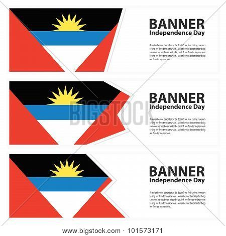 Antigua And Barbuda Flag Banners Collection Independence Day