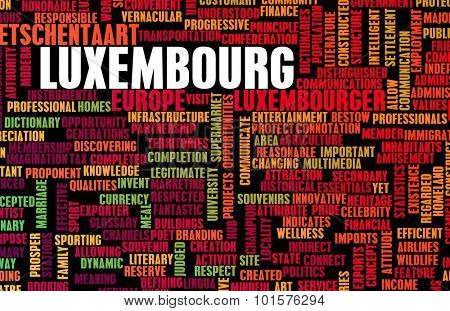 Luxembourg as a Country Abstract Art Concept