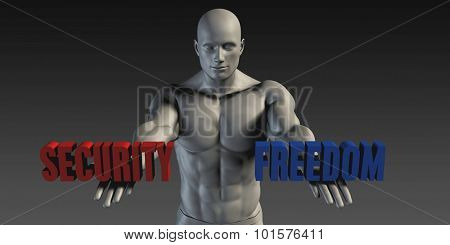 Security or Freedom as a Versus Choice of Different Belief