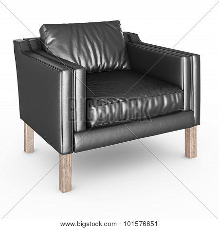 Armchair leather black