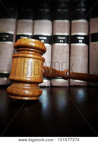 Court Gavel Lawbooks