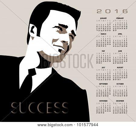 2016 businessman calendar