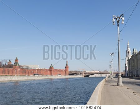 The Kremlin And The Sofia Embankment