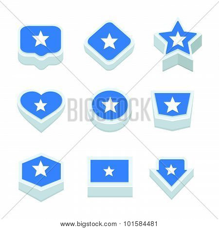 Somalia Flags Icons And Button Set Nine Styles
