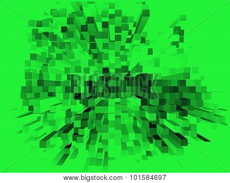Multicolored Grunge Square Shape Geometric Background.