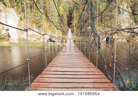 narrow  pedestrian bridge