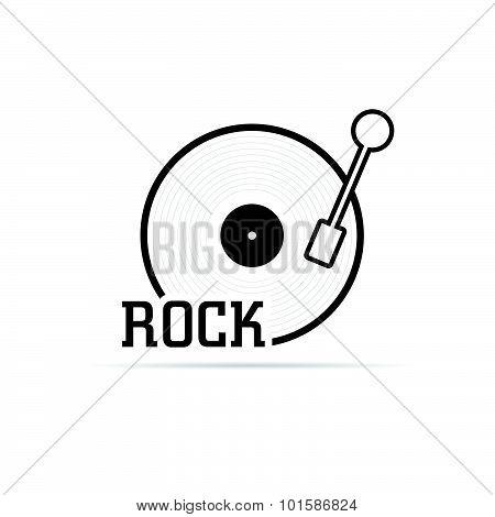 Vinyl Rock Vector Illustration