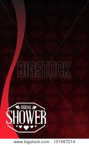Bridal Shower Hearts Background Sign