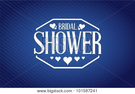 Bridal Shower Sign Blue Background
