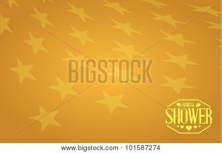 Bridal Shower Gold Background Star Sign